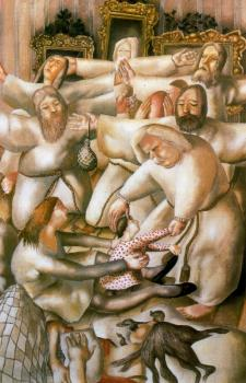 Stanley Spencer : The Coming Of the Wise Men (the Nativity)